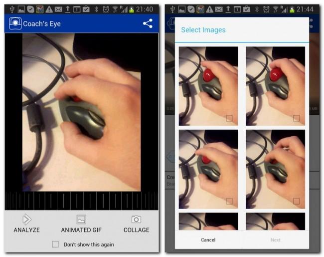 Eine genaue Videoanalyse ist mit der App ein Kinderspiel.