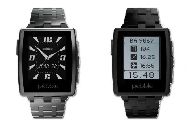 Die Pebble Steel ist eine schicke Smartwatch mit Metallgehäuse.