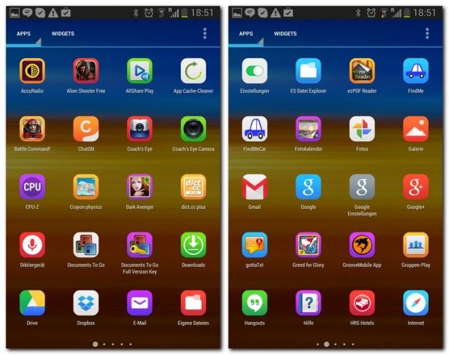 Diese Anwendung verändert das Aussehen der App-Icons.