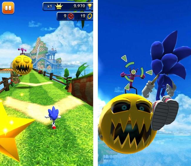 Auch in Sonic Dash gibt es wieder jede Menge Aufgaben und Herausforderungen zu meistern.