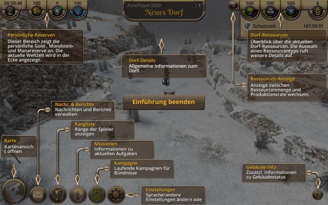 Anfangs wird dir ein Tutorial gezeigt, welches dir das User-Interface von Casters of Kalderon genauestens erklärt.