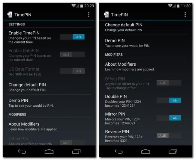Dank der App TimePIN verwendet dein Smartphone zum Entsperren eine PIN, die sich abhängig von der Uhrzeit verändert.