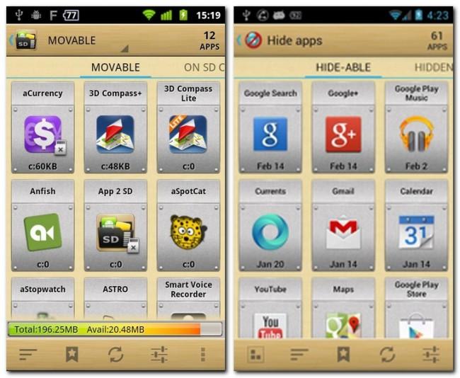 Die ideale Lösung ist AppMgr III, denn diese Anwendung verschiebt andere Apps auf die eingelegte Speicherkarte.