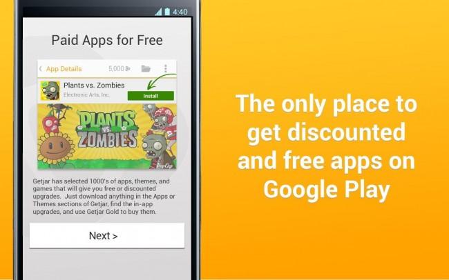 Mit Getjar bekommst du viele App-Vergünstigungen oder sogar Gratis-Apps direkt auf dein Smartphone.
