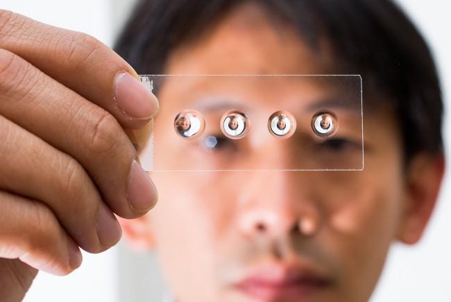 Mit der Technik, die die Wissenschaftler der ANU entdeckt haben, lassen sich Mikroskope im Cent-Bereich herstellen (Foto: Stuart Hay/ANU)