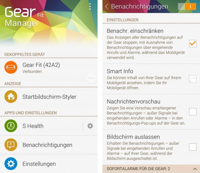 Mit Hilfe des Gear Fit Managers kannst du das Samsung Armband entsprechend konfigurieren.