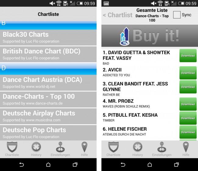 Diese App ermöglicht es dir einfach und schnell die aktuellsten Songs herunterzuladen.