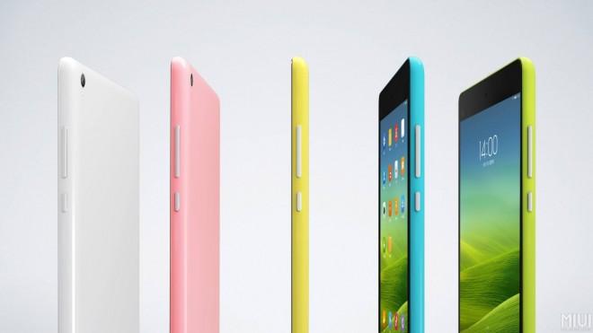 In mehreren Farbvarianten soll das Xiaomi Mi Pad auf den Markt kommen.