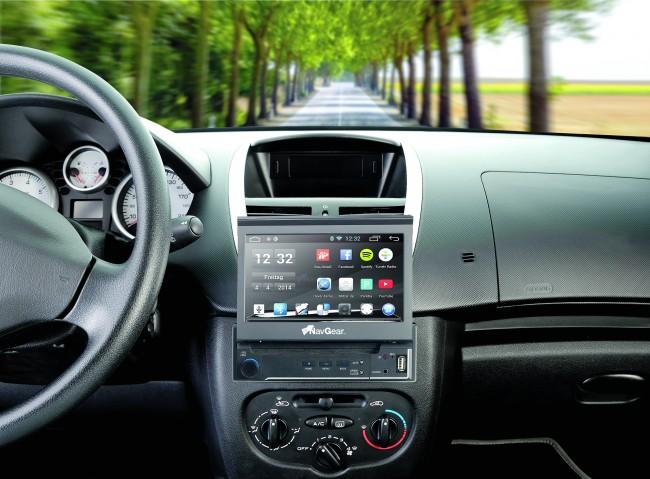 Das Android-Autoradio mit GPS jetzt auch als 1-DIN - mit MirrorLink! (Foto: Pearl)