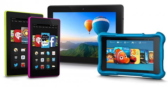 Von links nach rechts: Das Fire HD 7, HD 6, HDX 8.9 und das nur für die USA angekündigte HD Kids. (Bild: Amazon)