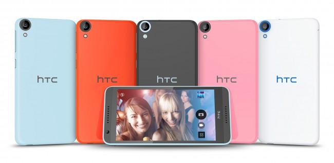 Wie üblich wird das Desire 820 wieder in vielen Farben auf den Markt kommen. (Foto: HTC)