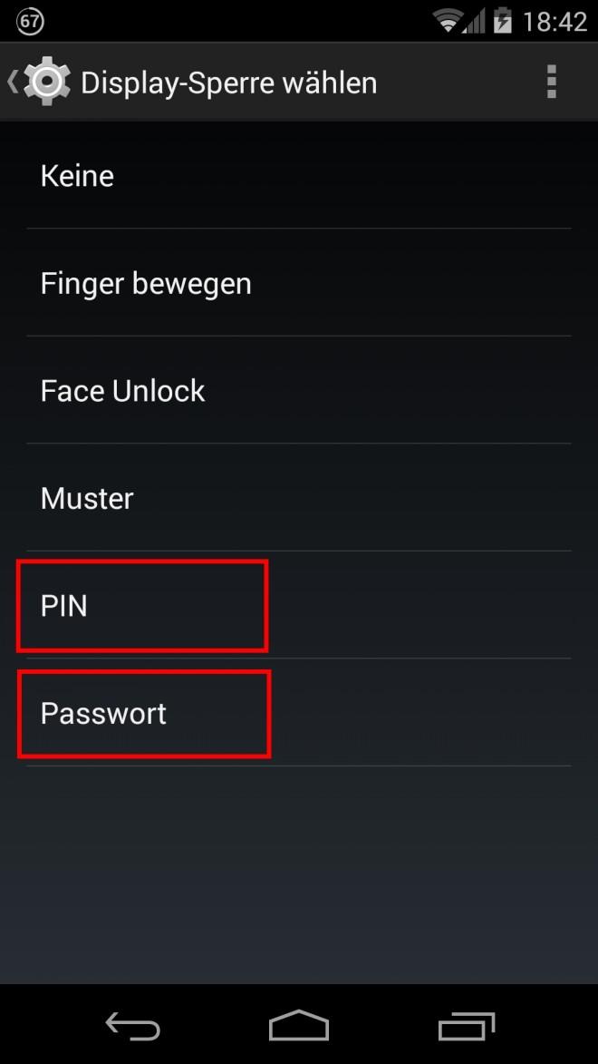 Android-Verschlüsselung-Displaysperre