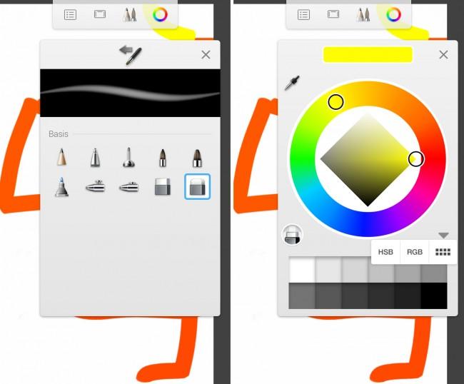 """Die App Autodesk SketchBook verwandelt dein Tablet oder Smartphone in einen Zeichenblock. Der volle Funktionsumfang steht nur in der kostenpflichtigen """"Pro""""-Version zur Verfügung."""