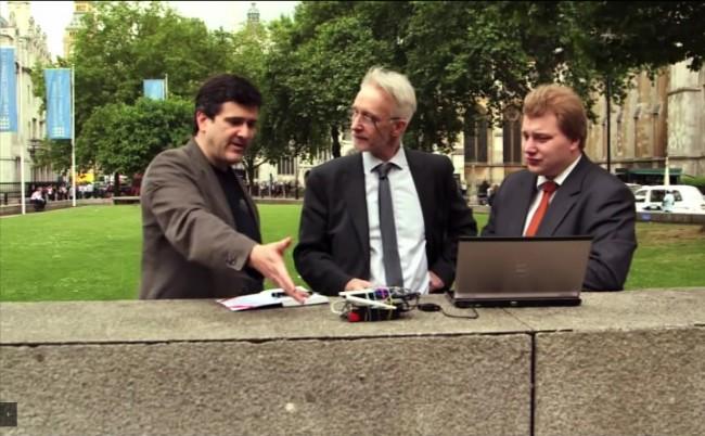 Sicherheitsexperten haben in Londoner Geschäfts- und Regierungsvierteln einen WLAN-Hotspot eingerichtet, um zu zeigen, wie leicht es ist, Benutzer solcher Internet-Zugänge auszuspionieren. (Foto: F-Secure)