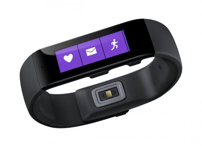 Das Microsoft Band zeichnet mit Hilfe seiner Sensoren deine Aktivitäten auf. Zudem kann das Armband Termine und E-Mail-Nachrichten anzeigen. (Foto: Microsoft)