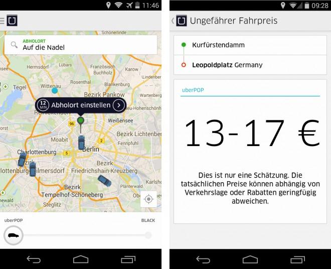 uber app anmelden