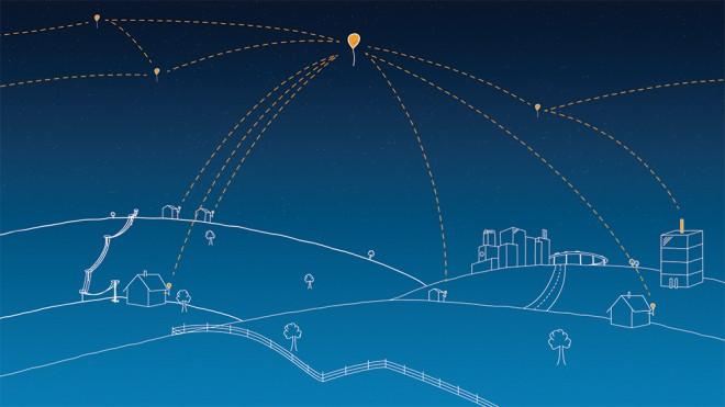 Die Ballons werden unterstützt von Basisstationen auf der Erde, die die eigentliche Verbindung zum Internet herstellen (Foto: Google)