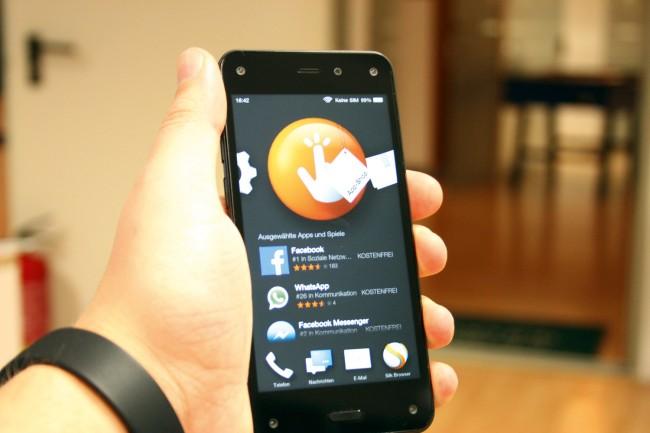 Apps können ausschließlich aus dem Amazon-App-Store bezogen werden.