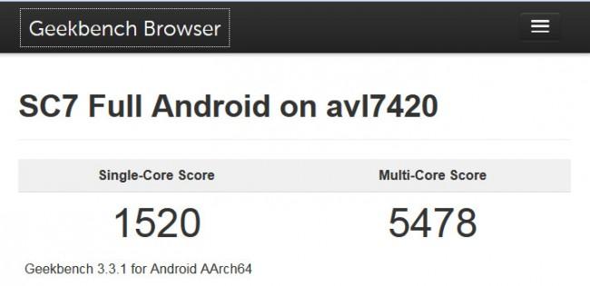 """... muss sich aber dem Konkurrenten """"Galaxy S6"""" von Samsung geschlagen geben. (Bildschirmfoto: Web-Site Primate Labs)"""