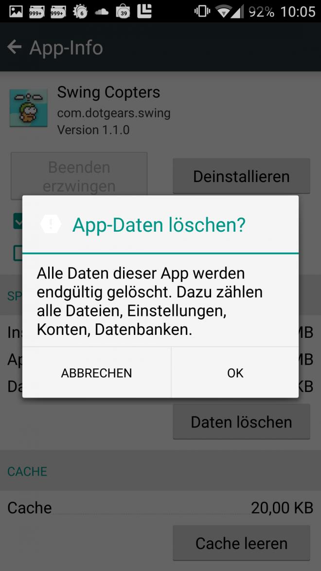 Apps zurücksetzen2