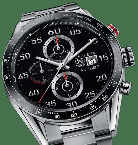 Die neue Smartwatch soll sich optisch an der TAG Heuer Carrera orientieren.