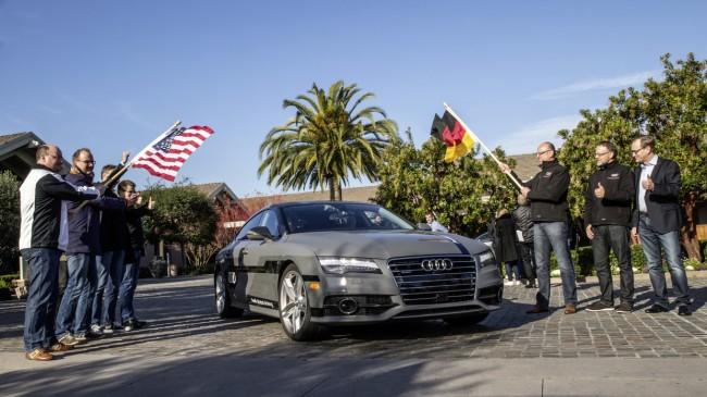 Im Januar 2015 hat der Fahrzeughersteller Audi ein Konzeptauto die knapp 900 Kilometer von der Westküste Kaliforniens bis zur Consumer Electronics Show in Las Vegas weitgehend automatisch fahren lassen. (Foto: Audi)