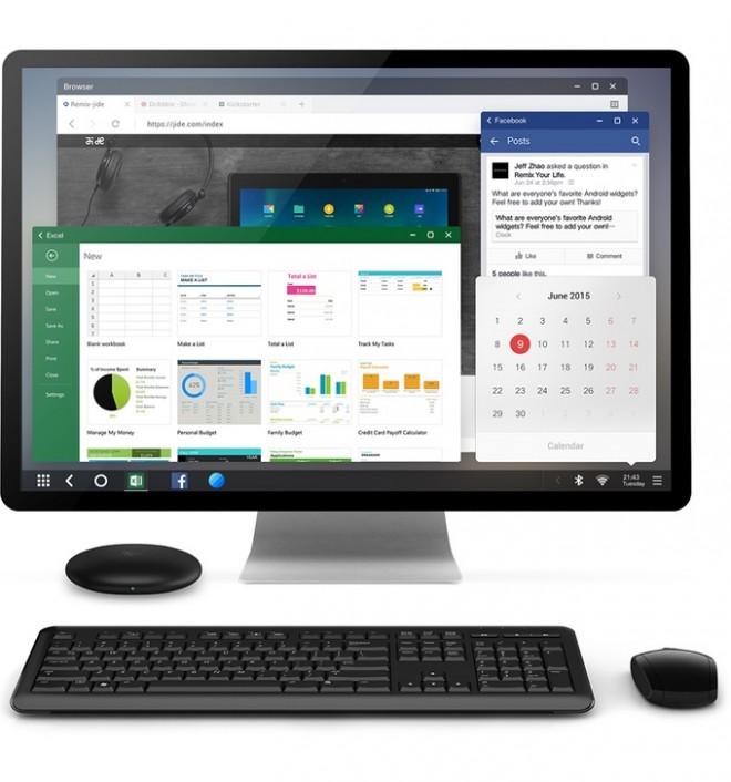 Bildschirm, Tastatur und Maus müssen sich Nutzer des Jide Remix Mini selbst besorgen.