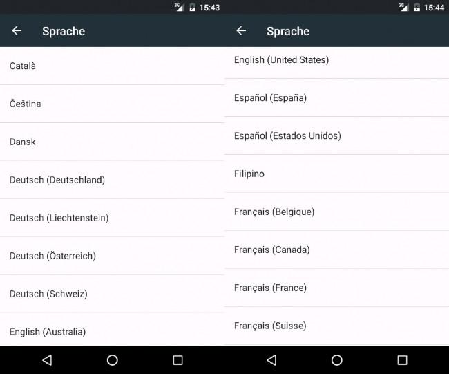 Das Betriebssystem Android unterstützt etwa 70 Sprachen. In gut 140 Ländern können Anwender Apps über den Google Play Store herunterladen.