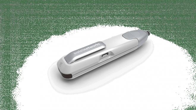 Ihr Smartphone oder Tablet hat keinen eingebauten NFC-Chip? Kein Problem dank des Lese- und Schreibstiftes vWand, der die NFC-Daten per Bluetooth an das Smartphone überträgt.