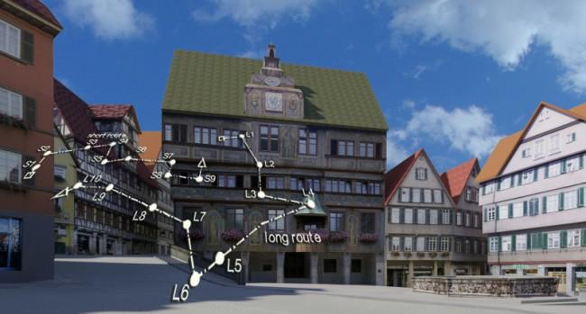 Wissenschaftler am Max-Planck-Institut für biologische Kybernetik in Tübingen untersuchen, wie der Orientierungssinn des Menschen funktioniert – und welchen Einfluss die zunehmende Verwendung von GPS-Systemen auf diese Orientierungsfähigkeiten hat. (Foto: Max-Planck-Institut für biologische Kybernetik)