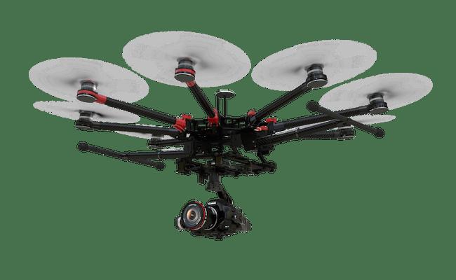 Octocopter Octocopter können durch ihre acht Propeller noch größere Lasten tragen und fliegen sehr stabil, sind aber auch teuer und schwer und benötigen viel Strom.