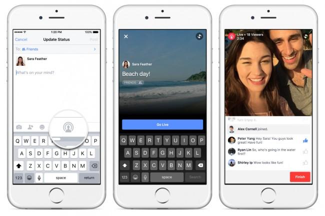 """Die neue """"Live Video""""-Funktion erlaubt es, Freunde und Bekannte direkt aus der Facebook-App heraus mit Live-Video-Übertragungen zu erfreuen. (Bildschirmfotos: Facebook)"""