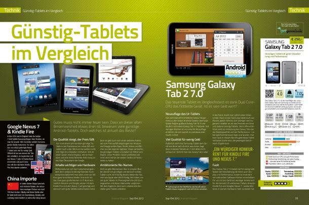 Android Magazin 8 - Günstig Tablets im Test (2 von 6 Seiten)