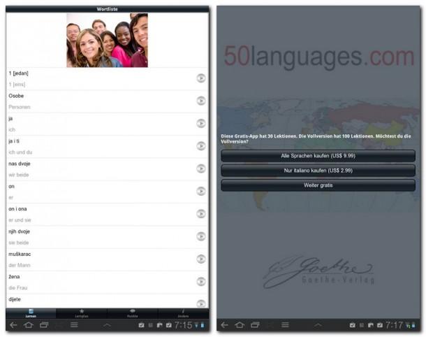 50 Sprachen präsentiert sich sehr umfangreich und vielfältig.