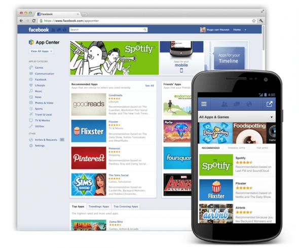 So soll das Facebook App Center aussehen. Foto: Facebook