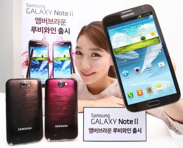 Samsung hat 2 neue Farbvarianten für das Galaxy Note 2 vorgestellt. Foto: Samsungtomorrow.com.