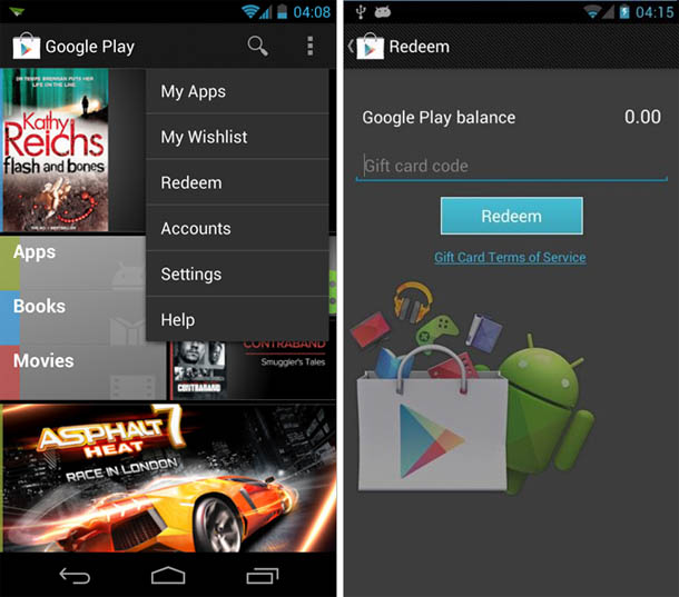 Google Play bekommt Wunschlisten und Geschenkkarten. Foto: androidpolice.com.