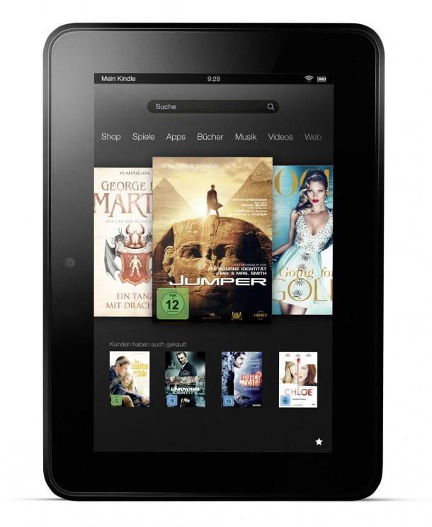 Das neue Kindle Fire soll besonders günstig auf den Markt kommen, dafür muss der Nutzer allerdings Werbeeinblendungen in Kauf nehmen. Diese lassen sich mit einer einmaligen Zahlung deaktivieren. Foto: Amazon.com.