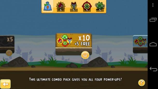 Per In-App Kauf lassen sich Power-Ups nachkaufen, um schwierige Levels leichter zu bewältigen. Foto: Androidcanada.