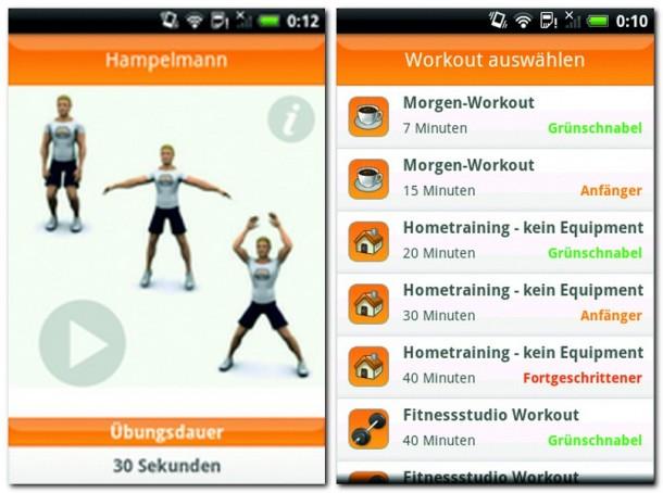 Der VirtuaGym Fitness-Assistent führt Sie durch acht gut beschriebene Trainingssitzungen. Für einige der Übungen benötigt man Geräte, die man in einem Fitnessstudio findet.