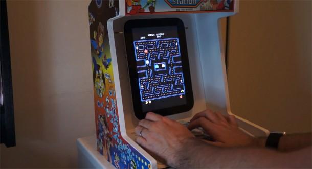 Die selbstgebaute Android Arcade Maschine. Foto: Youtube.
