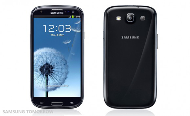 Das Samsung Galaxy S3 in der schwarzen Farbversion. Foto: Samsung Tomorrow.