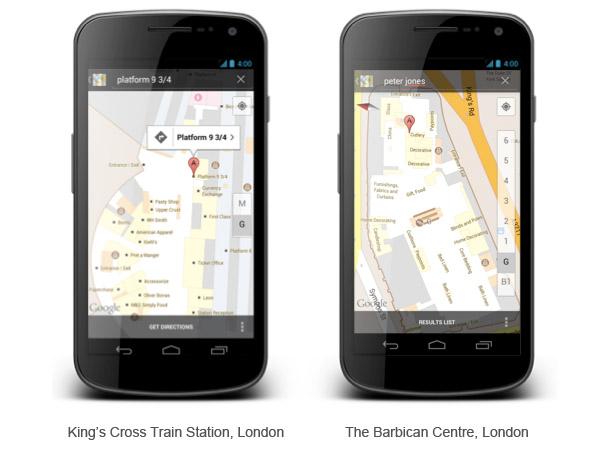 Der Indoor Kartendienst von Google ist rechtzeitig zu den Olympischen Spielen in London verfügbar. Foto: Google.