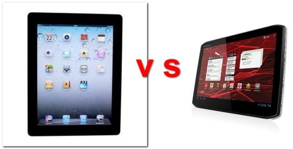 iPad vs Motorola Xoom 2 (BQ: Motorola, handytestberichte.com)
