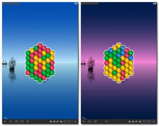 Knobelspiel mit Suchtpotenzial. Ziel ist es, Reihen von gleichfärbigen Juwelen zu Bilden.