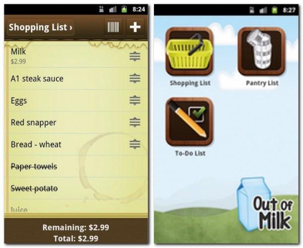 Einträge lassen sich bearbeiten, löschen oder als erledigt kennzeichnen. Keine Milch zuhause? Kein Problem! Diese App bietet eine Einkaufs-, Speise- und To-Do-Liste.