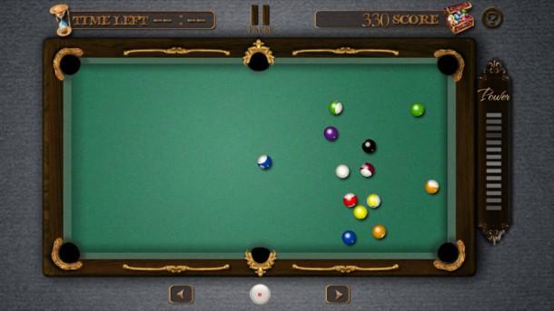 Dank der realistischen Spielphysik versenken Sie die Kugeln punktgenau in den Taschen.