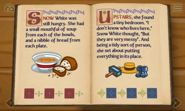 Eine Übersetzung des Märchens erfolgt auf Knopfdruck in sechs verschiedene Sprachen.