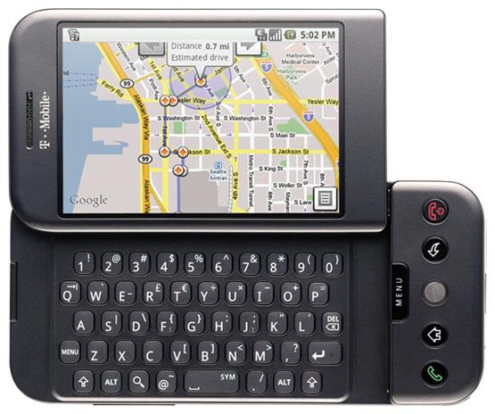 So hat das T-Mobile G1 ausgesehen.