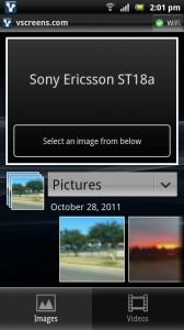 Upload-Screen